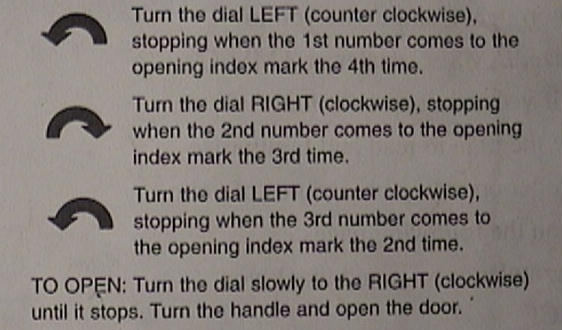 Locksmith Charley presents: INSTRUCTIONS FOR DIALING YOUR